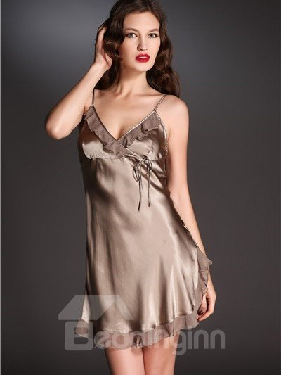 High Quality Soft and Comfortable Skincare Solid Color Sleepwear