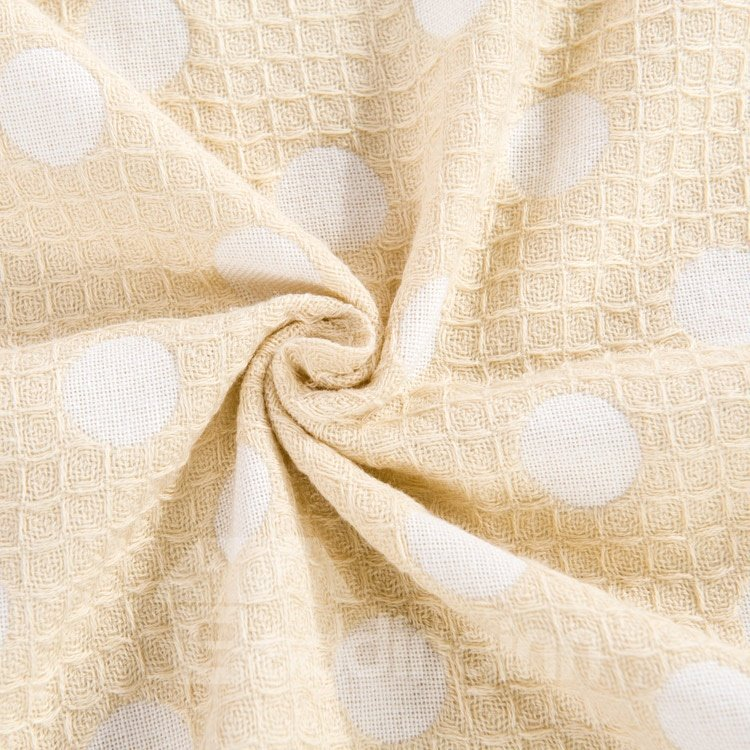 High Quality Beautiful Spotted 100% Cotton Skincare Towelling Coverlet