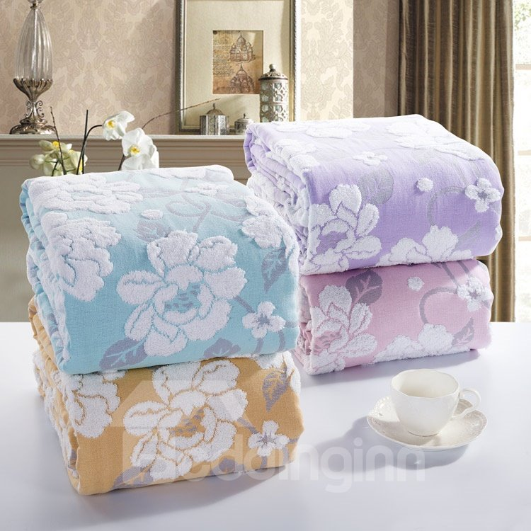 High Quality Comfortable Amazing Peony Jacquard Blanket