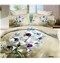 A Bouquet of White Flowers Print 3D Bedding Sets