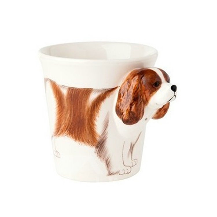 New Arrival Lovely Hand-painted 3D Ceramic Cocker Creative Mug