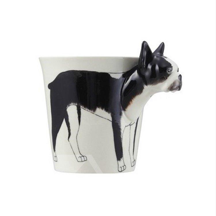 New Arrival Hand-painted 3D Ceramic Bulldog Creative Mug