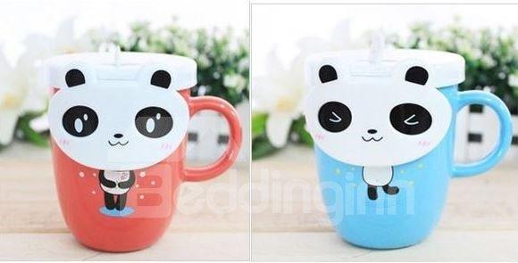 New Arrival Creative Cute Cartoon Panda Ceramic Mug