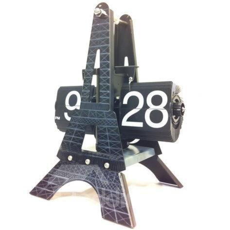 New Arrival European Style Eiffel Tower Flip Clock