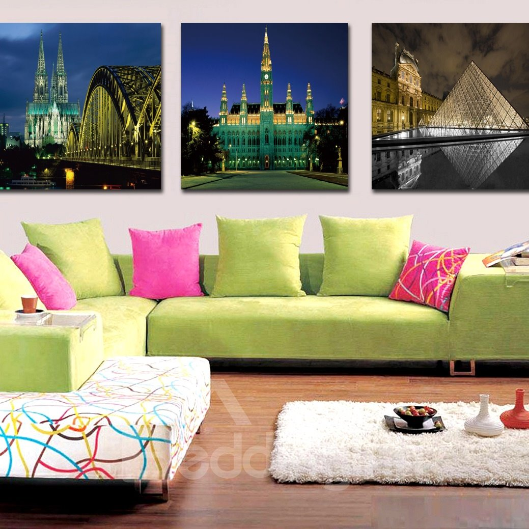 New Arrival Grand Louvre Cross Film Wall Art Prints