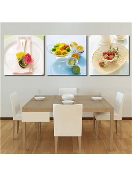 New Arrival Fruit Tray With Lemon & Strawberries Inside Cross Film Wall Art Prints