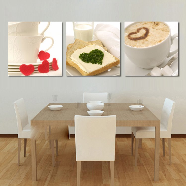 New Arrival Bread And Coffee In The Cup Cross Film Wall Art Prints