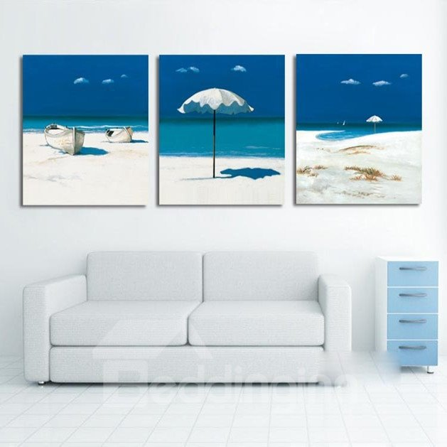 New Arrival Blue Sky And Beach Cross Film Wall Art Prints