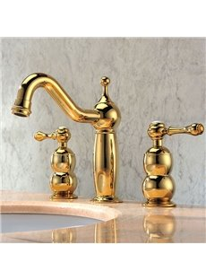 New Arrival High Quality Retro European-style Gold Bathroom Sink Faucet