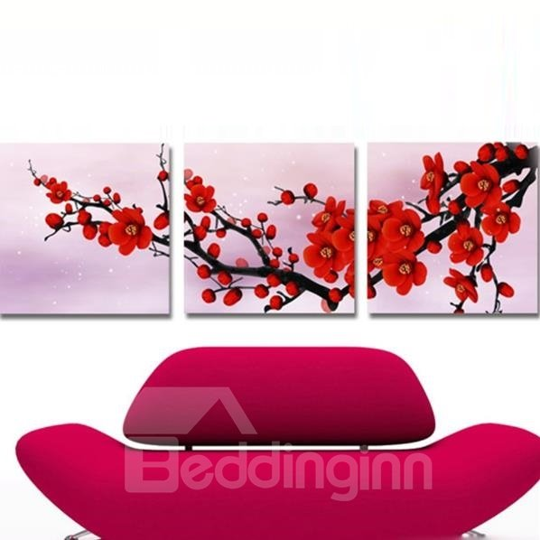 New Arrival Fragrant Plum Blossom Cross Film Wall Art Prints