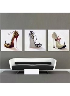New Arrival Fashionable High-heeled Shoes Cross Film Wall Art Prints
