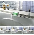 Top Selling High Quality LED Color Changing Elliptic Head Bathtub Faucet