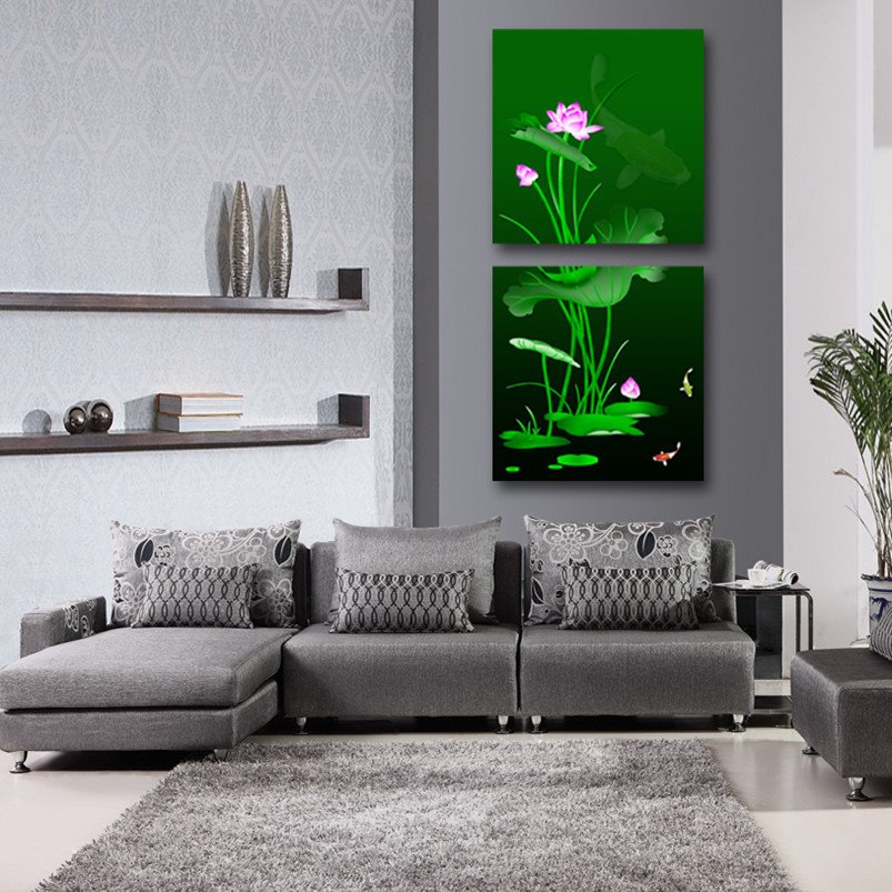 New Arrival Lotus In The Water Cross Film Wall Art Prints