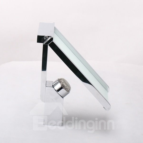 New Arrival LED Color Changing Rectangle Head Widespread Waterfall Bathroom Sink Faucet