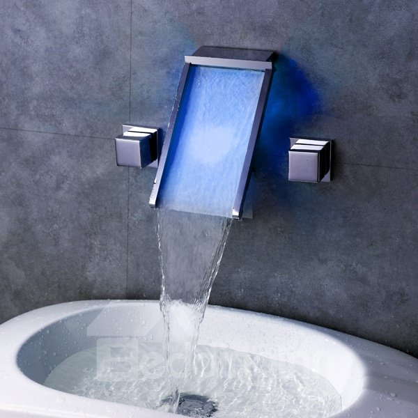 New Arrival Fantastic LED Color Changing Bathroom Sink Faucet