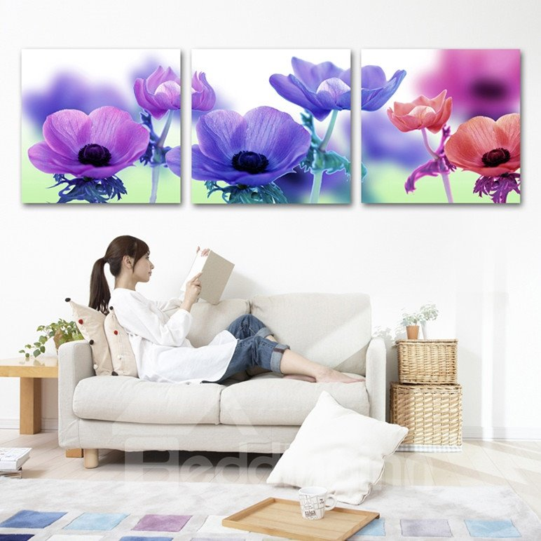 New Arrival Different Delicate Flowers Cross Film Wall Art Prints
