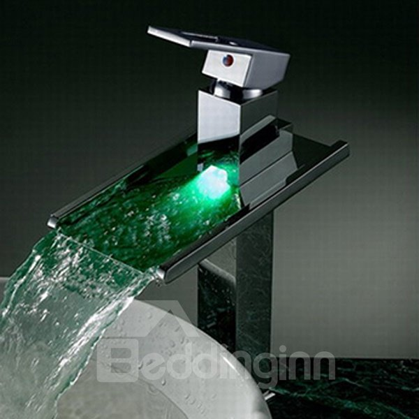 Gorgeous High Quality LED Color Changing Bathroom Sink Faucet
