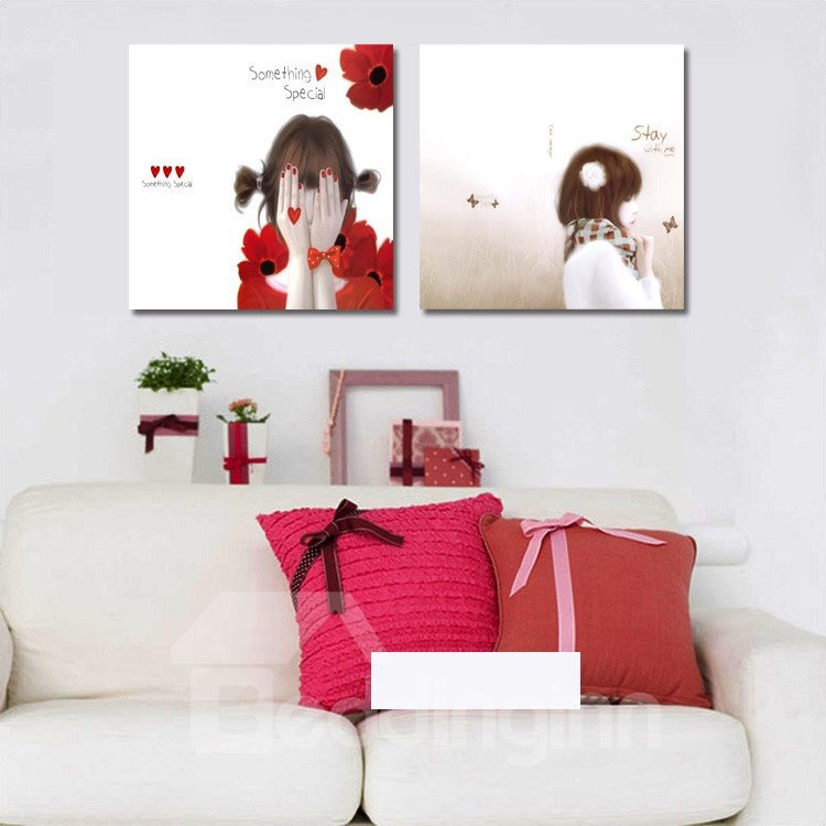 New Arrival Cute Girls With Dream Film Wall Art Prints