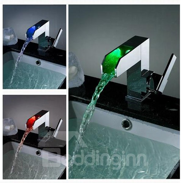 High Quality Fantastic LED Color Changing Bathroom Sink Faucet