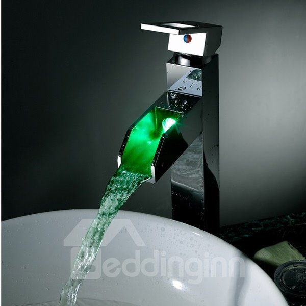 High Quality Attractive LED Color Changing Bathroom Sink Faucet