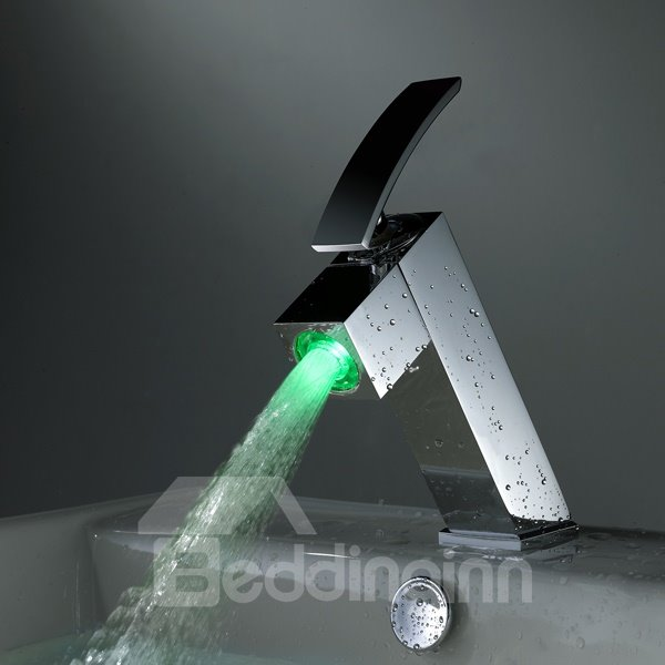 Wonderful Top Selling LED Color Changing Bathroom Sink Faucet