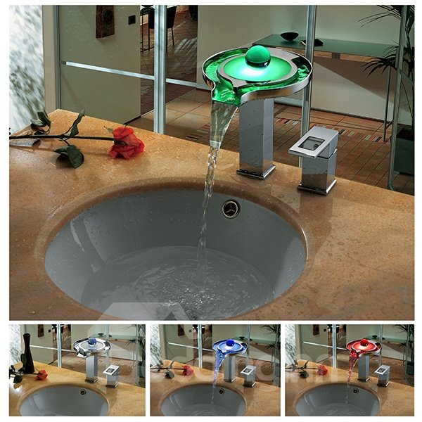 New Arrival High Quality Tempting LED Color Changing Bathroom Sink Faucet