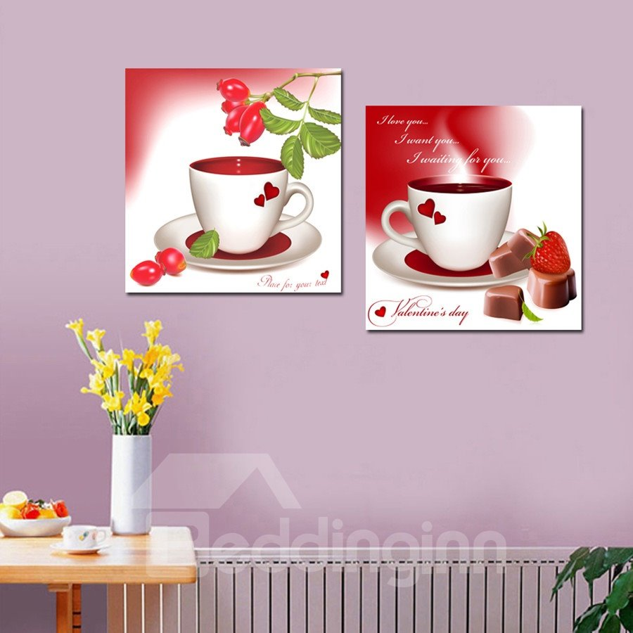New Arrival Valentine's Day's Gift And Cup Film Wall Art Prints