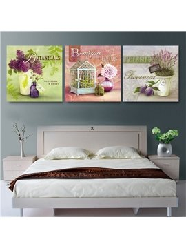 New Arrival Gracious Purple Flowers Film Wall Art Prints