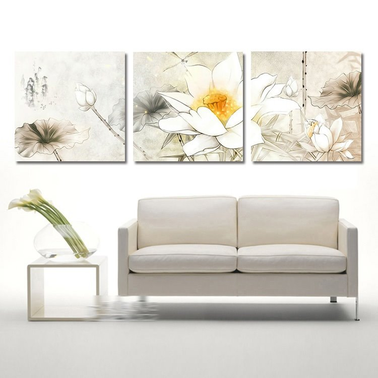 New Arrival Delicate Lotus Film Wall Art Prints