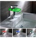 Simple Style LED Color Changing Bathroom Sink Faucet