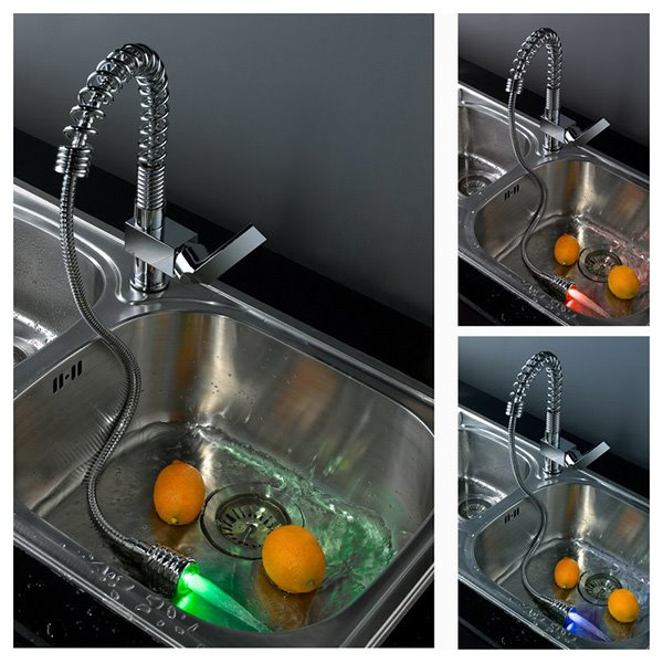 Top Selling Popular Fantastic Temperature Control Colorful LED Kitchen Faucet