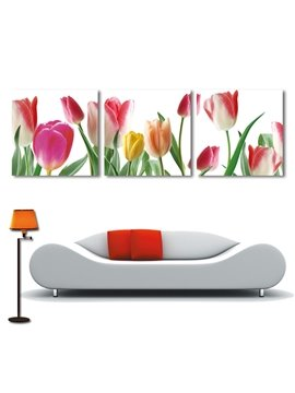 New Arrival Delicate Yellow Red Tulip Film Wall Art Prints