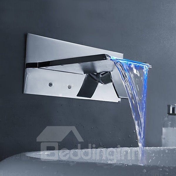 New Arrival Stunning Temperature Control Color Changing Bathroom Sink Faucet