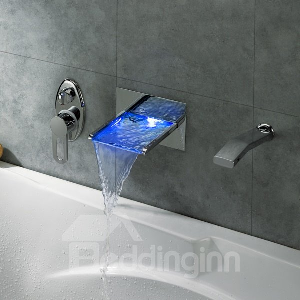 Top Selling Popular Gorgeous Temperature Control Colorful LED Bathroom Sink Faucet