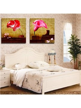 New Arrival Red Roses And Tulips Film Wall Art Prints