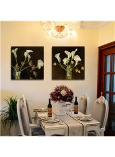 New Arrival White Tulips In The Glass Film Wall Art Prints