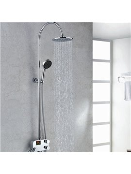 New Arrival Simple Style Wonderful Thermostatic Digital Display Shower Head Faucet