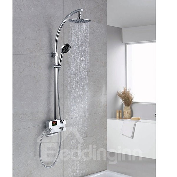 New Arrival Graceful Thermostatic Digital Display Shower Head Faucet