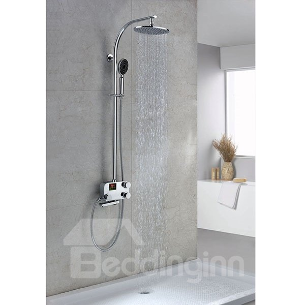 Fancy High Quality Thermostatic Digital Display Shower Head Faucet