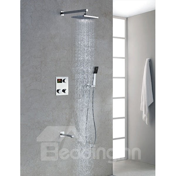High Quality Modern Style Thermostatic Digital Display Shower Head Faucet