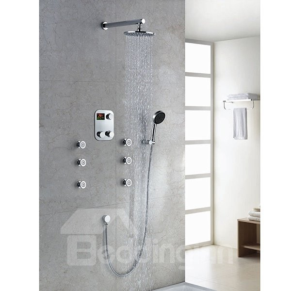 Fantastic  High Quality Thermostatic Digital Display Shower Head Faucet
