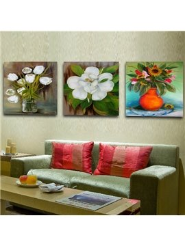 New Arrival Blooming Flowers And Green Leaves In The Bottle Film Wall Art Prints