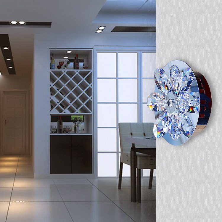 Fantastic Floral Shade Crystal Decorative Wall Light