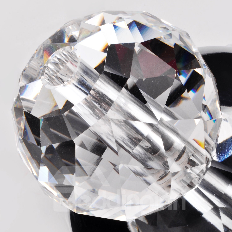 Modern K9 Crystal Ball Mini Chrome Finish Flush Mount