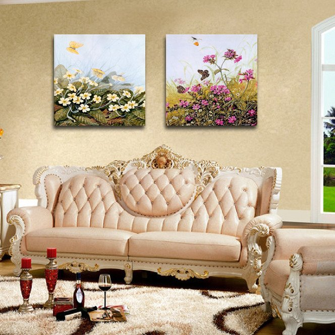 New Arrival Butterfly Flying Over The Flowers Film Wall Art Prints