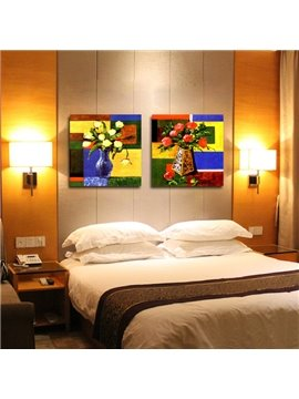 New Arrival Vivid Oil Painting With Colorful Flowers Film Wall Art Prints