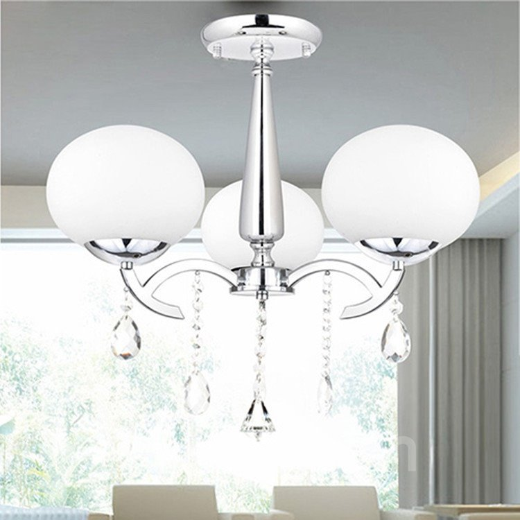 Elegant Modern Crystal 3 Light Decorative Chandelier