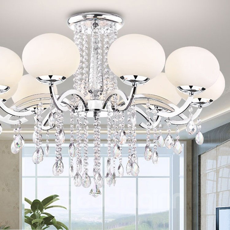 European Style Elegant Luxury 9 Light Crystal Chandelier