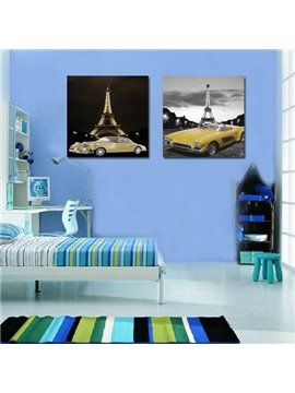 New Arrival Eiffel Tower And Cars Film Wall Art Prints