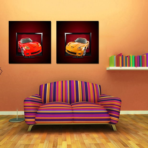 New Arrival Fancy Luxuriant Cars Film Wall Art Prints